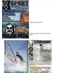 X-Sport Mag - Egypt Windsurfing Feature - inside front cover
